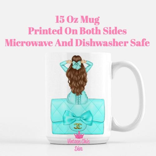 Aqua Fashion Girl16 Coffee Mug-