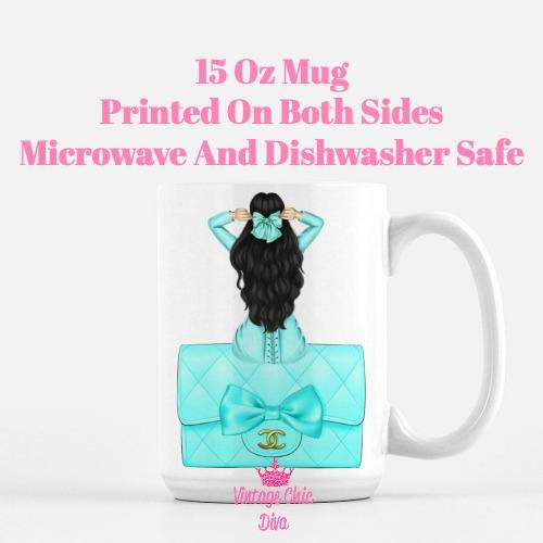 Aqua Fashion Girl17 Coffee Mug-