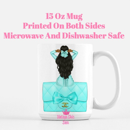 Aqua Fashion Girl20 Coffee Mug-
