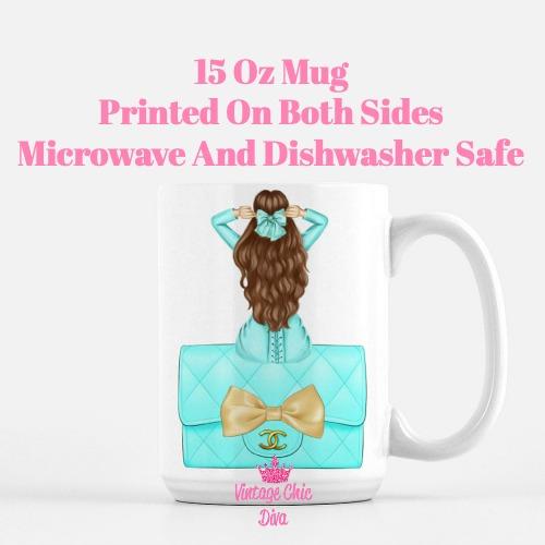 Aqua Fashion Girl21 Coffee Mug-