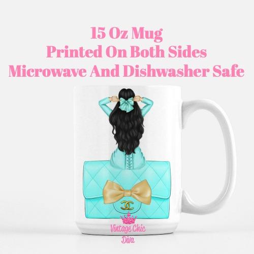 Aqua Fashion Girl22 Coffee Mug-
