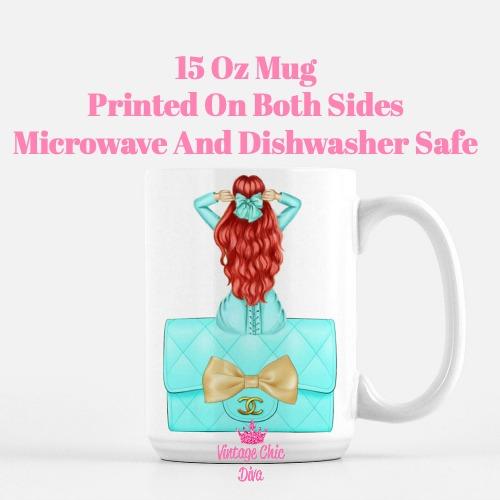Aqua Fashion Girl24 Coffee Mug-