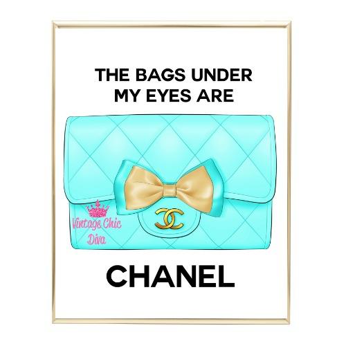 Aqua Glam Chanel Handbag10 Wh Bg-