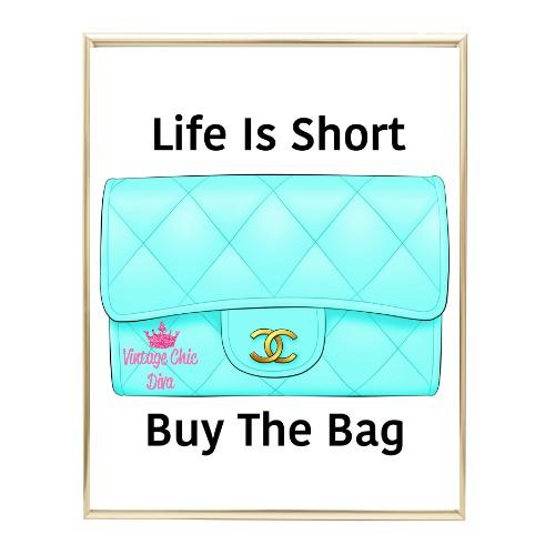 Aqua Glam Chanel Handbag11 Wh Bg-