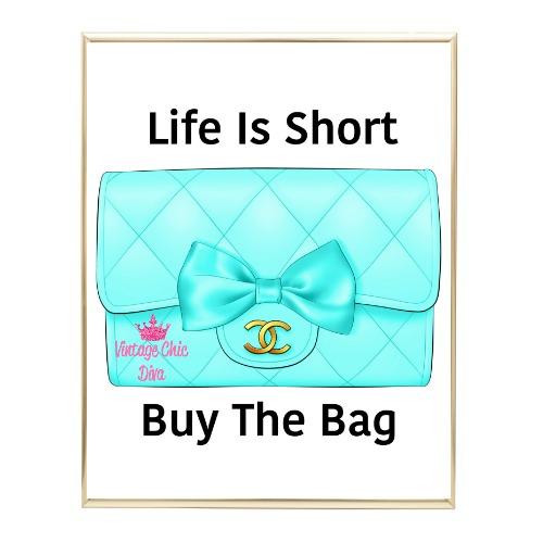 Aqua Glam Chanel Handbag12 Wh Bg-