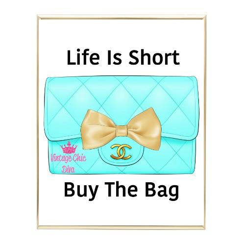Aqua Glam Chanel Handbag13 Wh Bg-