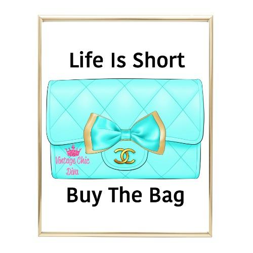 Aqua Glam Chanel Handbag14 Wh Bg-