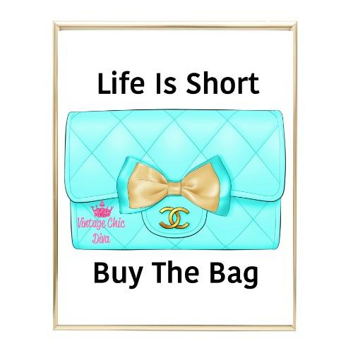 Aqua Glam Chanel Handbag15 Wh Bg-