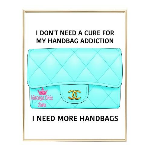 Aqua Glam Chanel Handbag16 Wh Bg-