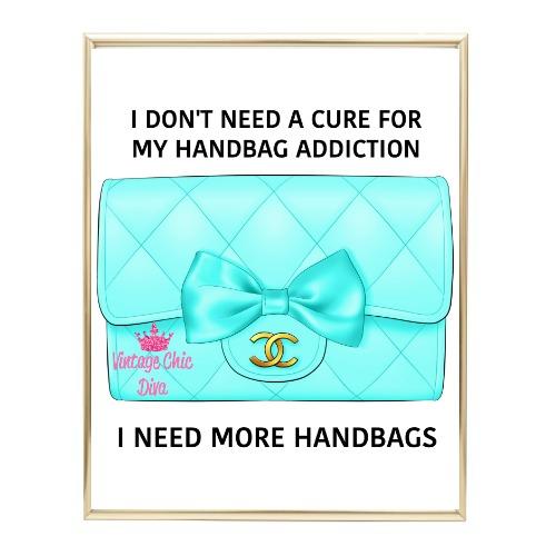 Aqua Glam Chanel Handbag17 Wh Bg-