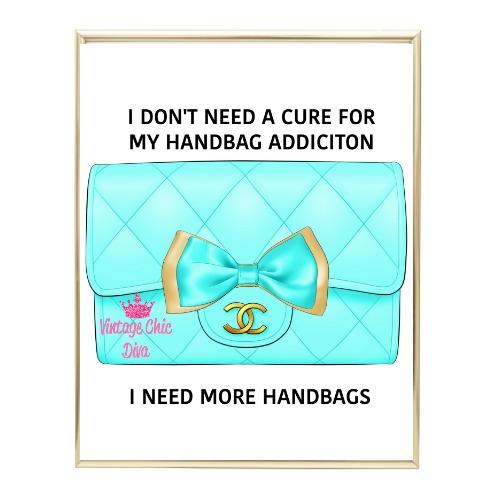 Aqua Glam Chanel Handbag19 Wh Bg-