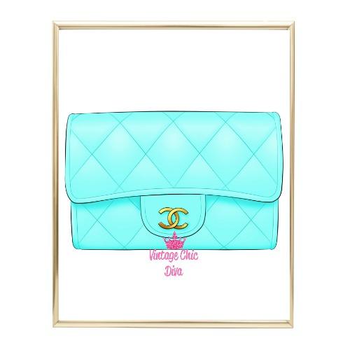 Aqua Glam Chanel Handbag1 Wh Bg-
