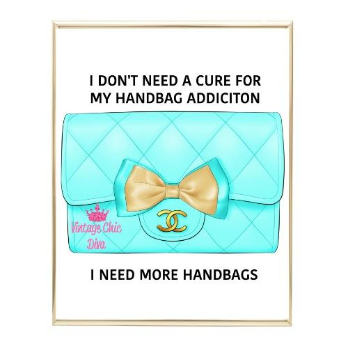 Aqua Glam Chanel Handbag20 Wh Bg-