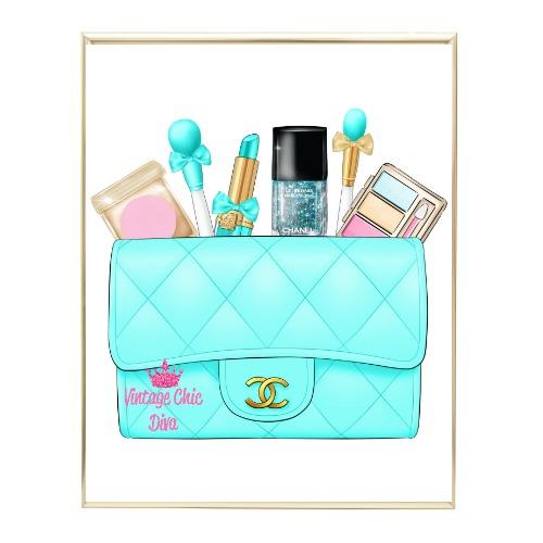 Aqua Glam Chanel Handbag21 Wh Bg-