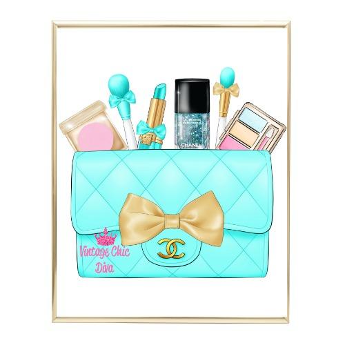 Aqua Glam Chanel Handbag23 Wh Bg-