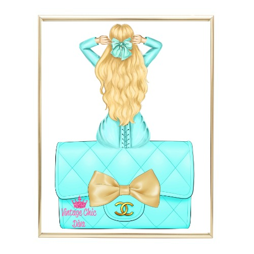 Aqua Glam Fashion Girl Set23 Wh Bg-