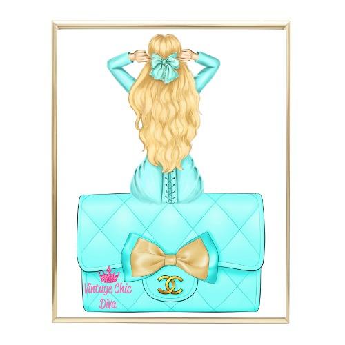 Aqua Glam Fashion Girl Set28 Wh Bg-