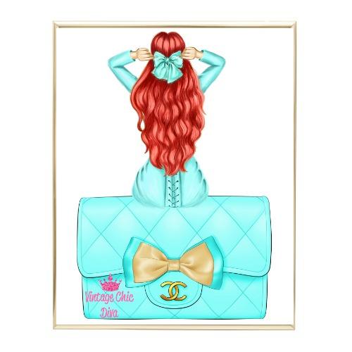 Aqua Glam Fashion Girl Set29 Wh Bg-