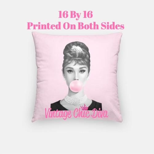 Audrey Bubblegum2 Pillow Case-