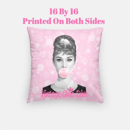 Audrey Bubblegum3 Pillow Case-