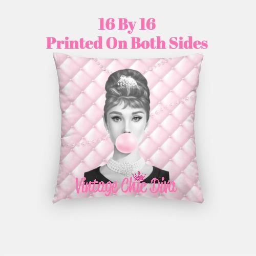 Audrey Bubblegum4 Pillow Case-