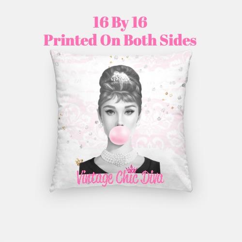 Audrey Bubblegum5 Pillow Case-