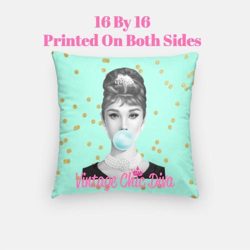 Audrey Bubblegum6 Pillow Case-
