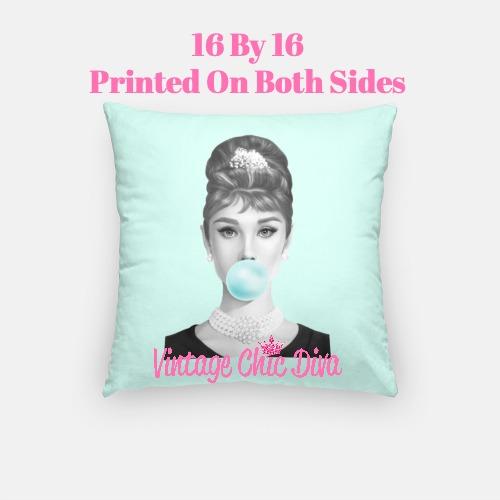 Audrey Bubblegum7 Pillow Case-