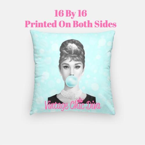 Audrey Bubblegum8 Pillow Case-