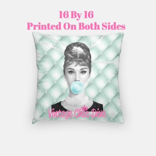 Audrey Bubblegum9 Pillow Case-
