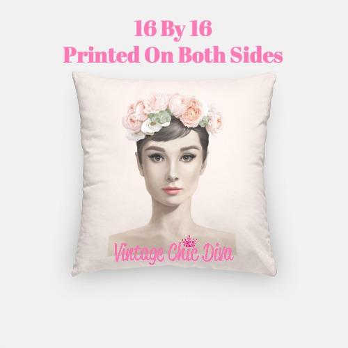 Audrey Flowers1 Pillow Case-