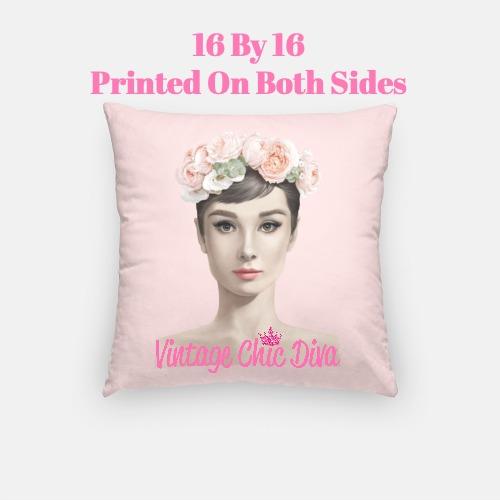 Audrey Flowers2 Pillow Case-