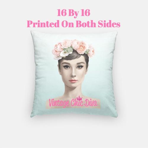 Audrey Flowers3 Pillow Case-