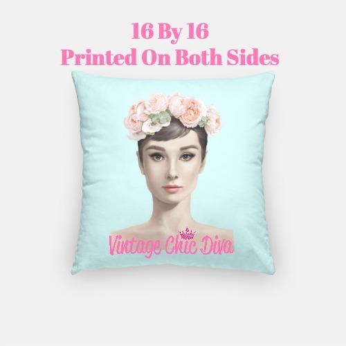 Audrey Flowers5 Pillow Case-