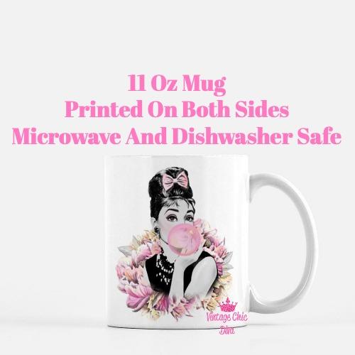 Audrey Hepburn Pink1 Coffee Mug-
