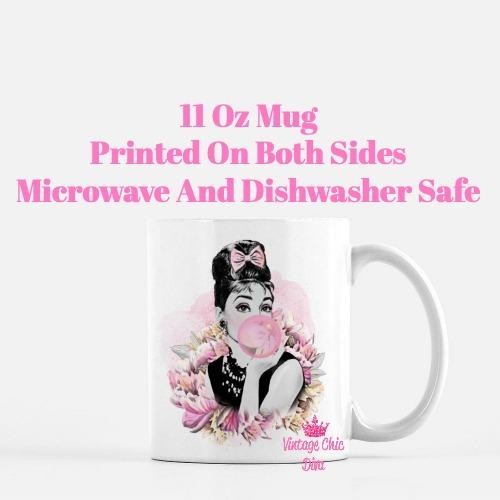 Audrey Hepburn Pink2 Coffee Mug-