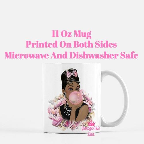 Audrey Hepburn Pink3 Coffee Mug-