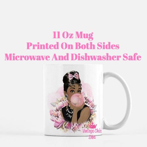 Audrey Hepburn Pink4 Coffee Mug-