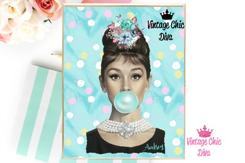 Audrey Hepburn Polka Dots Background-