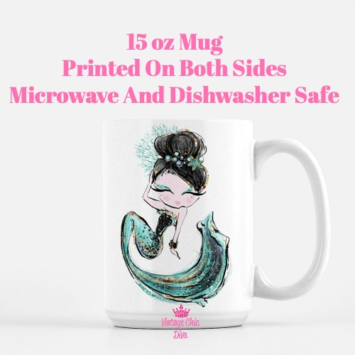 Audrey Mermaid1 Coffee Mug-