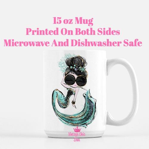 Audrey Mermaid3 Coffee Mug-
