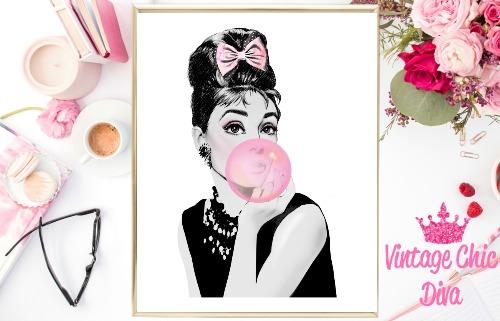 Audrey Pink Bubblegum White Background-