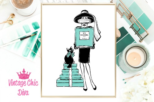 Audrey Style Set White Background-