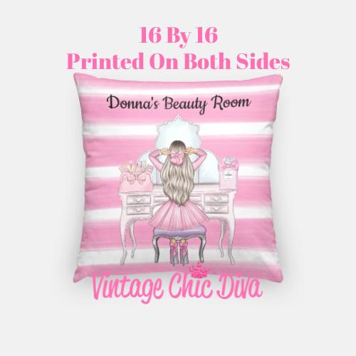 Beauty Room Girl14 Pillow Case-