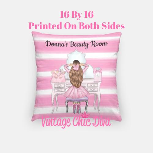 Beauty Room Girl15 Pillow Case-
