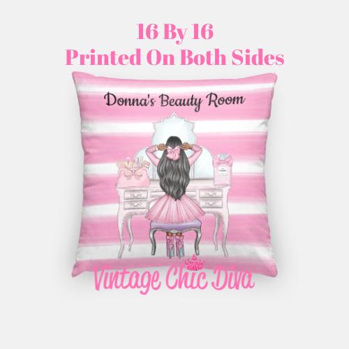 Beauty Room Girl16 Pillow Case-
