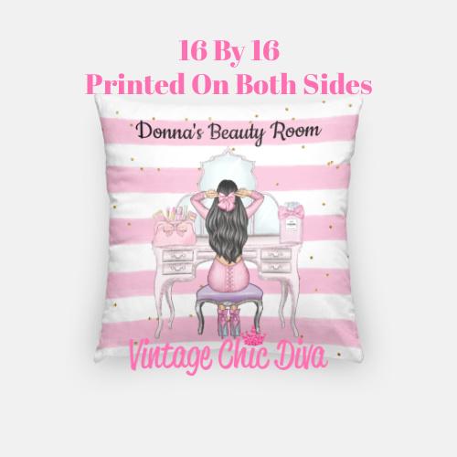 Beauty Room Girl17 Pillow Case-