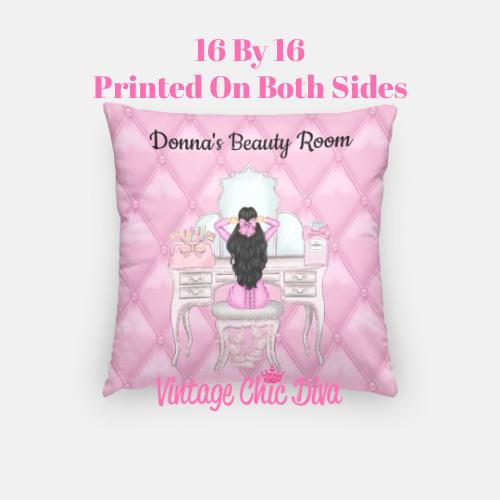 Beauty Room Girl1 Pillow Case-