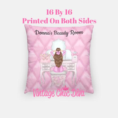 Beauty Room Girl2 Pillow Case-