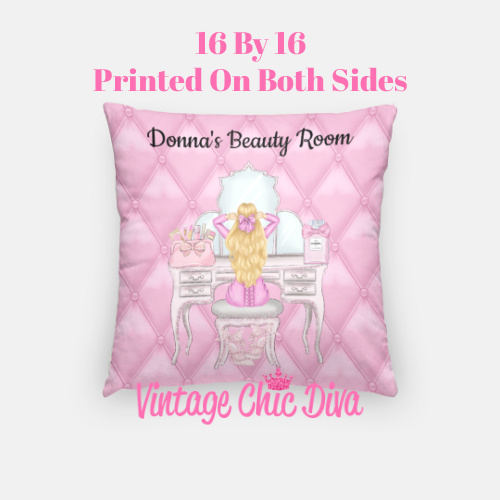 Beauty Room Girl3 Pillow Case-